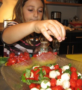 Paige's Niece Prepping a Fresh Veggie Meal