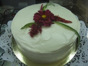 Passionfruit Vanilla Cake from Stephanie's Organic Bakery