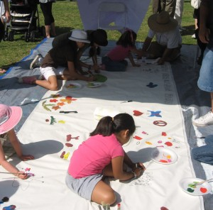 Children Painting with Art Miles